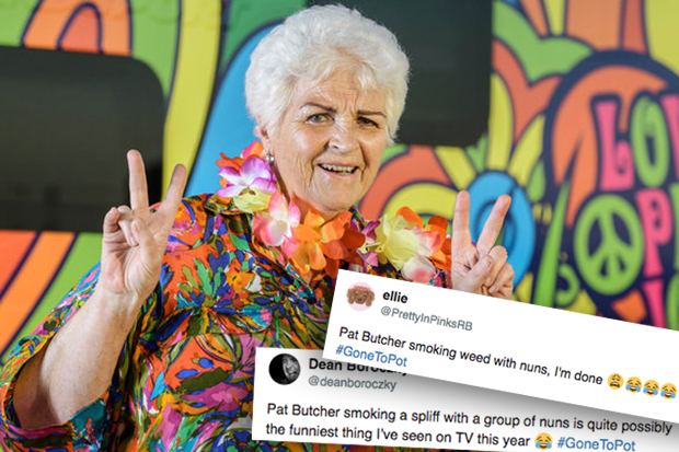 Pam St Clement Gone To Pot Reaction