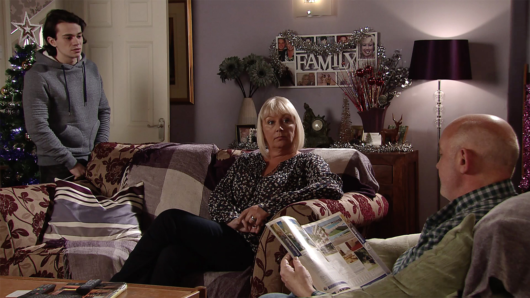 FROM ITV   STRICT EMBARGO  Print media - No Use Before  Saturday 9th December 2017 Online Media -  No Use Before 0700hrs Saturday 9th December 2017  Coronation Street - Ep 9343  Wednesday 3rd January 2018  Phelan [CONNOR McINTYRE] is furious Seb Franklyn [HARRY VISINONI] has accepted a job working with Gary on a building project and throws him out. But his fury turns to horror when he realises the mill conversion GaryÕs working on is where he stashed AndyÕs and VinnyÕs bodies!   Picture contact - david.crook@itv.com   This photograph is (C) ITV Plc and can only be reproduced for editorial purposes directly in connection with the programme or event mentioned above, or ITV plc. Once made available by ITV plc Picture Desk, this photograph can be reproduced once only up until the transmission [TX] date and no reproduction fee will be charged. Any subsequent usage may incur a fee. This photograph must not be manipulated [excluding basic cropping] in a manner which alters the visual appearance of the person photographed deemed detrimental or inappropriate by ITV plc Picture Desk. This photograph must not be syndicated to any other company, publication or website, or permanently archived, without the express written permission of ITV Plc Picture Desk. Full Terms and conditions are available on the website www.itvpictures.com
