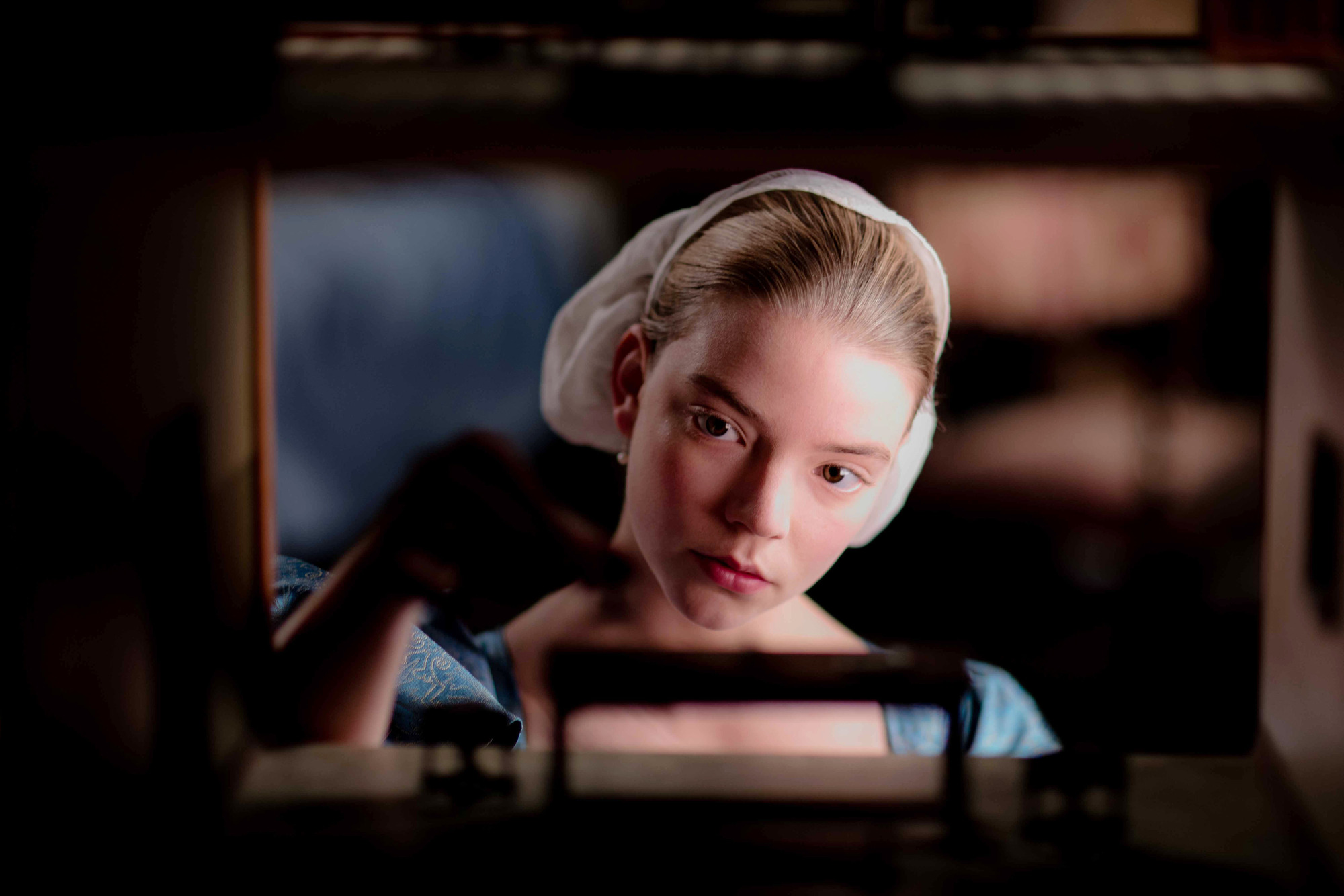 Nella and her cabinet house in The Miniaturist (BBC/The Forge, SD)