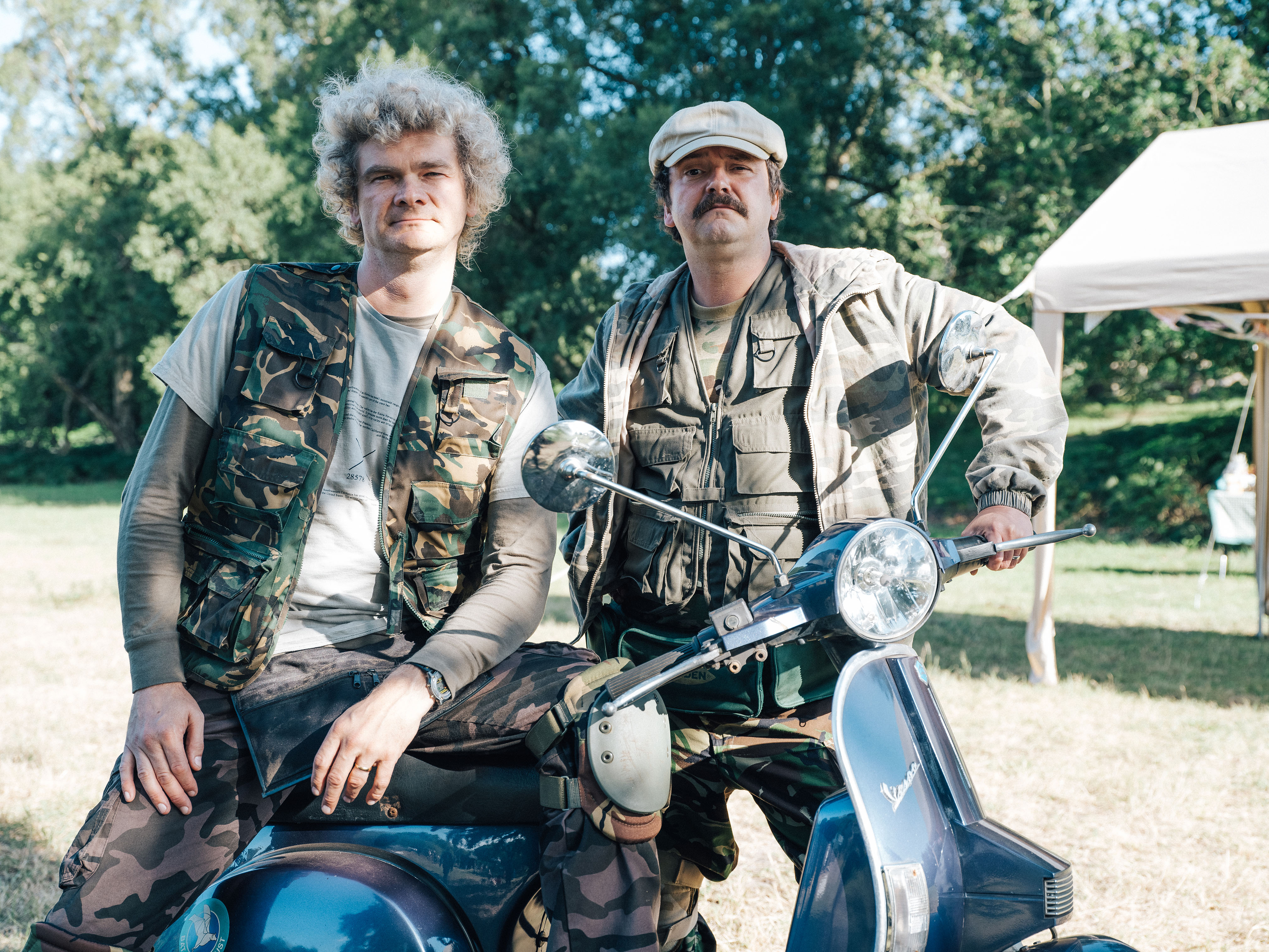 Programme Name: Detectorists series 3 - TX: n/a - Episode: n/a (No. n/a) - Picture Shows: Art (SIMON FARNABY), Paul (PAUL CASAR) - (C) Channel X - Photographer: Chris Harris
