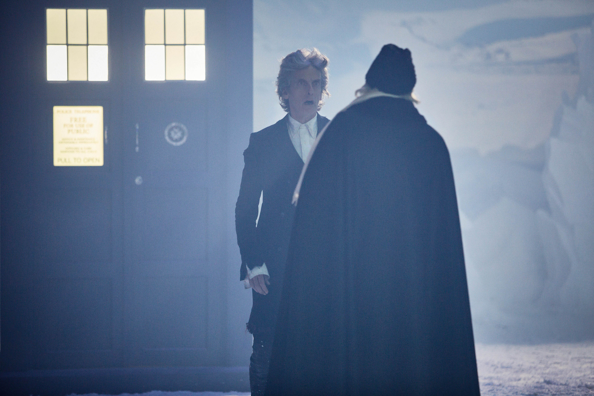 Peter Capaldi and David Bradley in the Doctor Who Christmas special