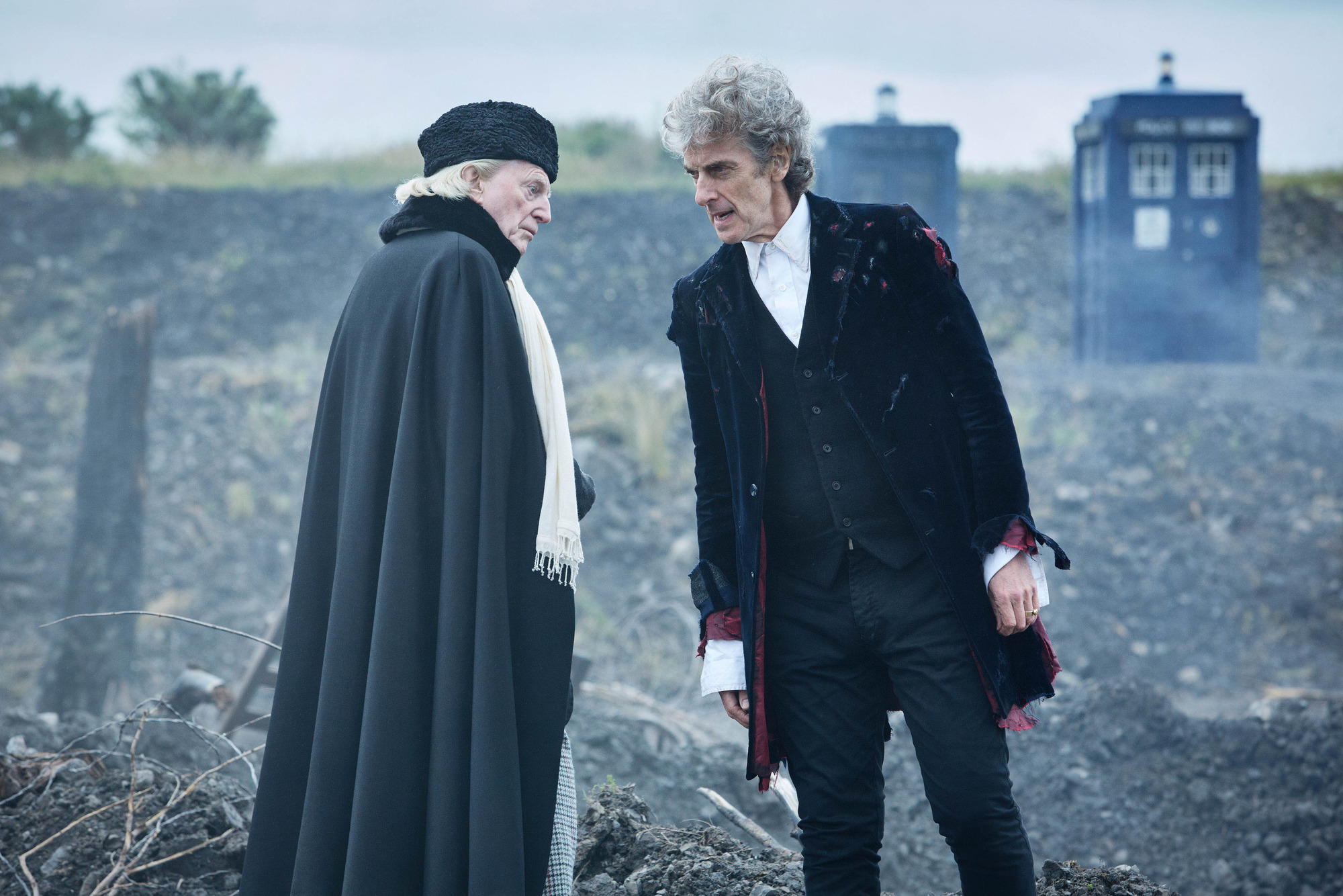 David Bradley and Peter Capaldi in Twice Upon a Time (BBC, TL)