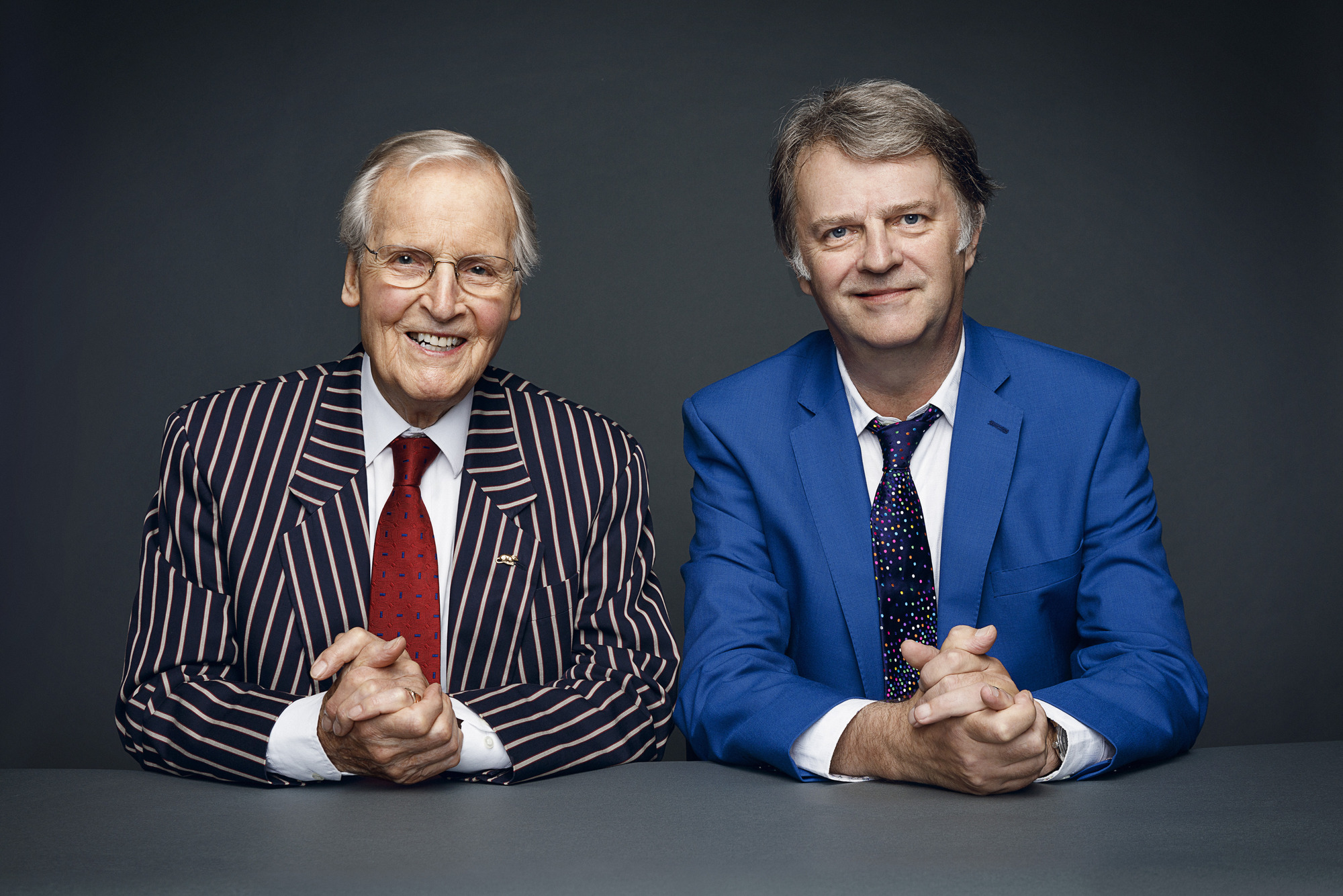 Paul Merton and Nicholas Parsons (BBCPictures,mh)