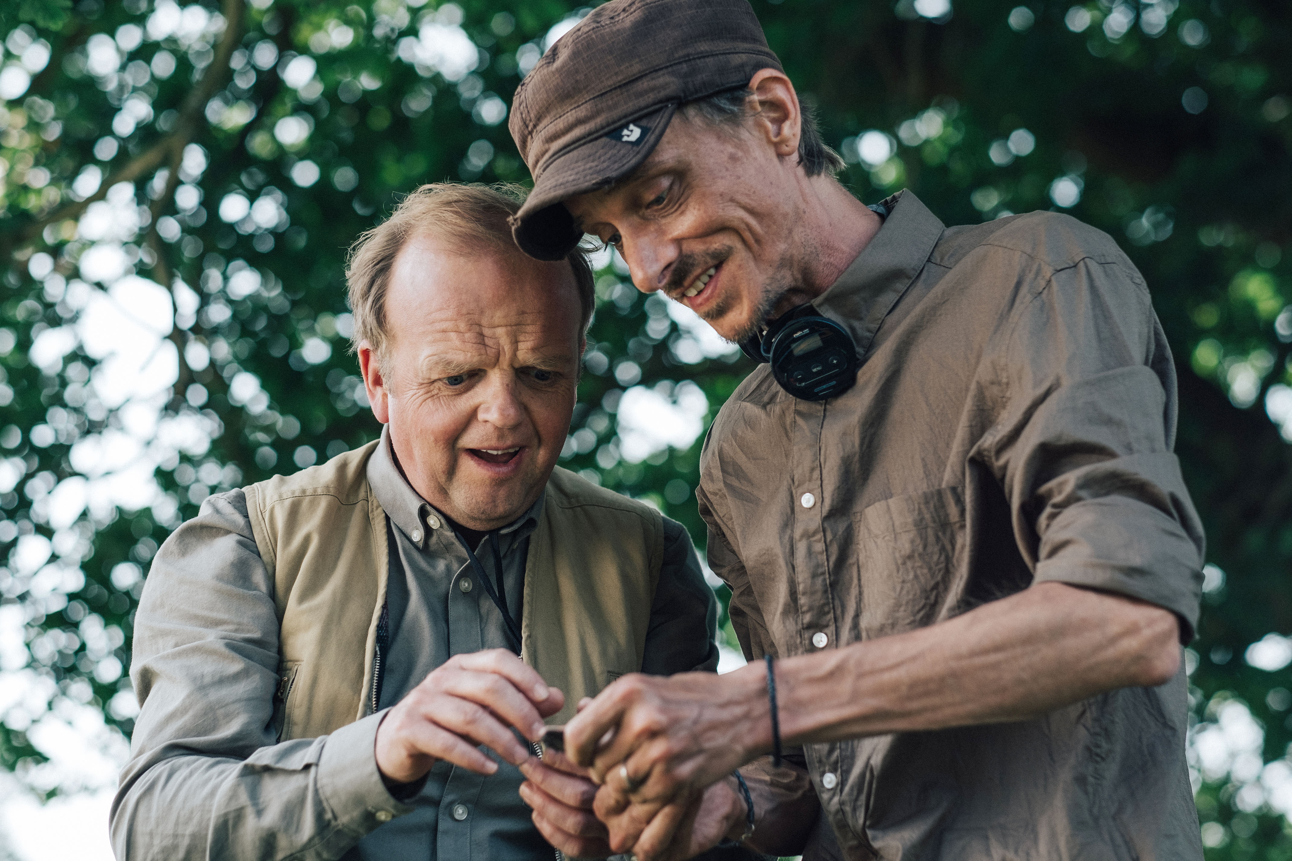 Programme Name: Detectorists series 3 - TX: n/a - Episode: n/a (No. n/a) - Picture Shows:  Lance (TOBY JONES), Andy (MACKENZIE CROOK) - (C) Channel X - Photographer: Chris Harris