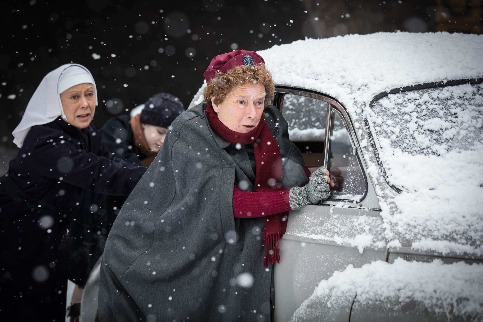 Nurse Phyllis Crane (LINDA BASSETT) in the Call the Midwife 2017 Christmas special (BBC Pictures, JG)