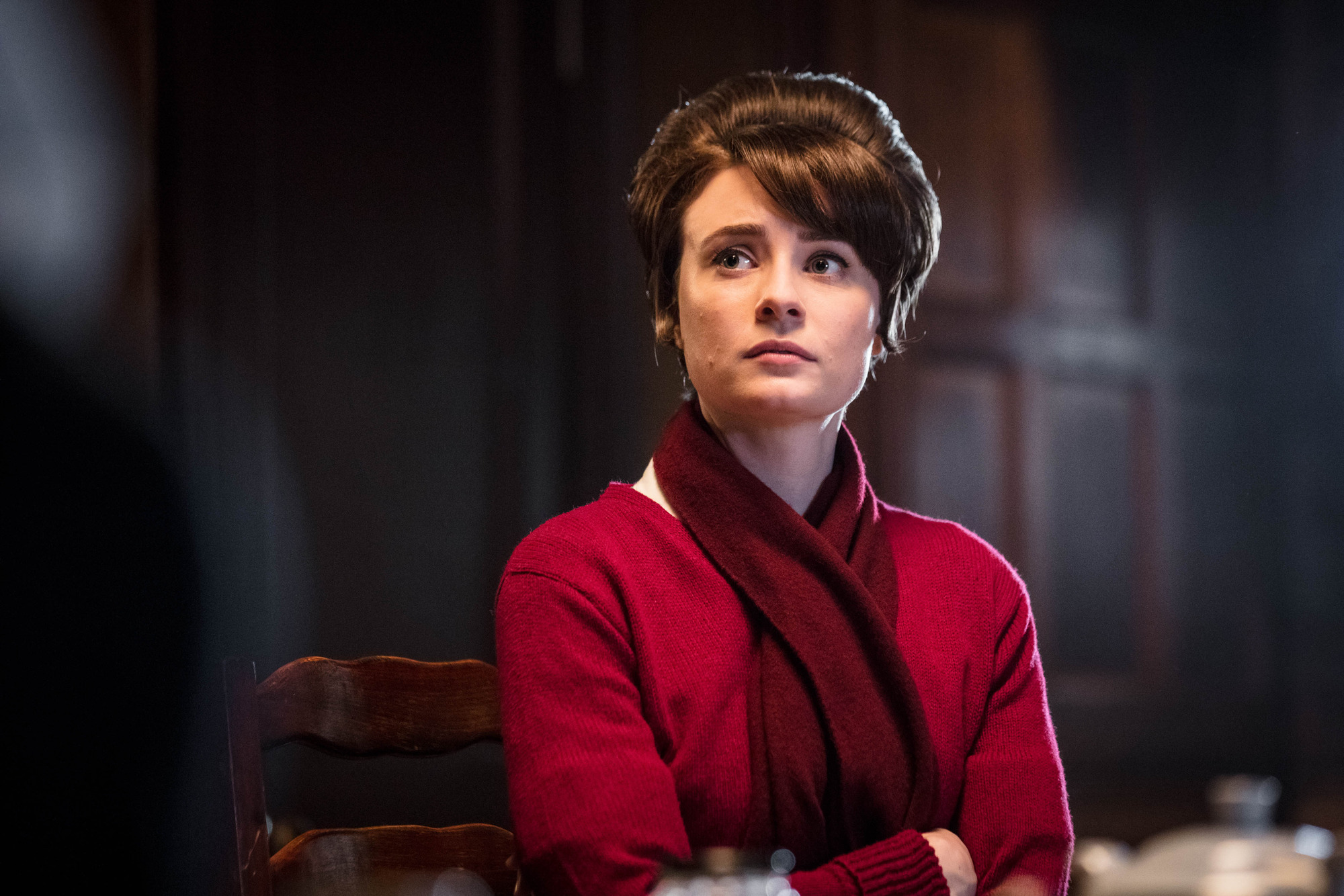 Valerie Dyer (JENNIFER KIRBY) in the Call the Midwife 2017 Christmas special