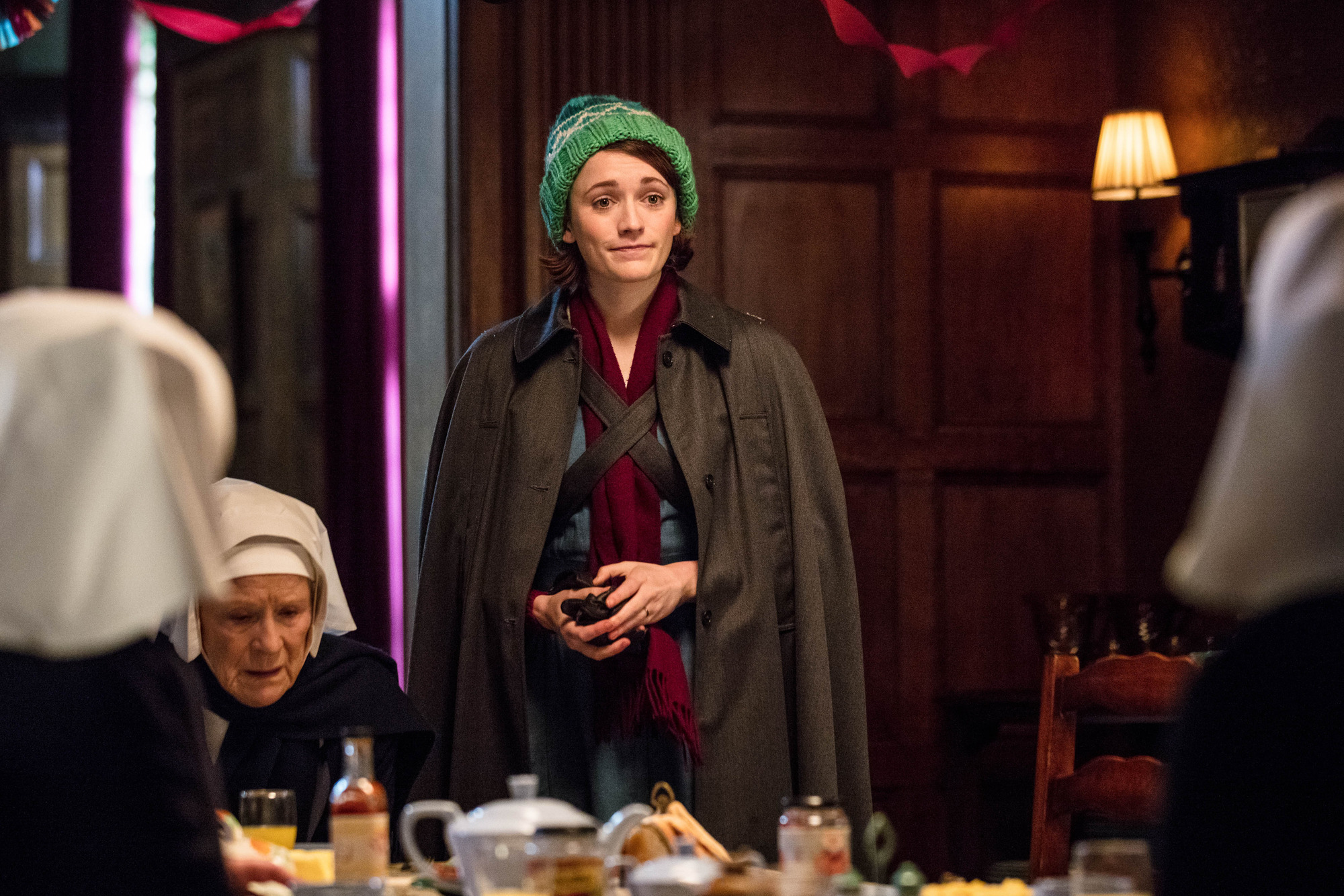 Charlotte Ritchie as Nurse Barbara Gilbert in the Call the Midwife 2017 Christmas special