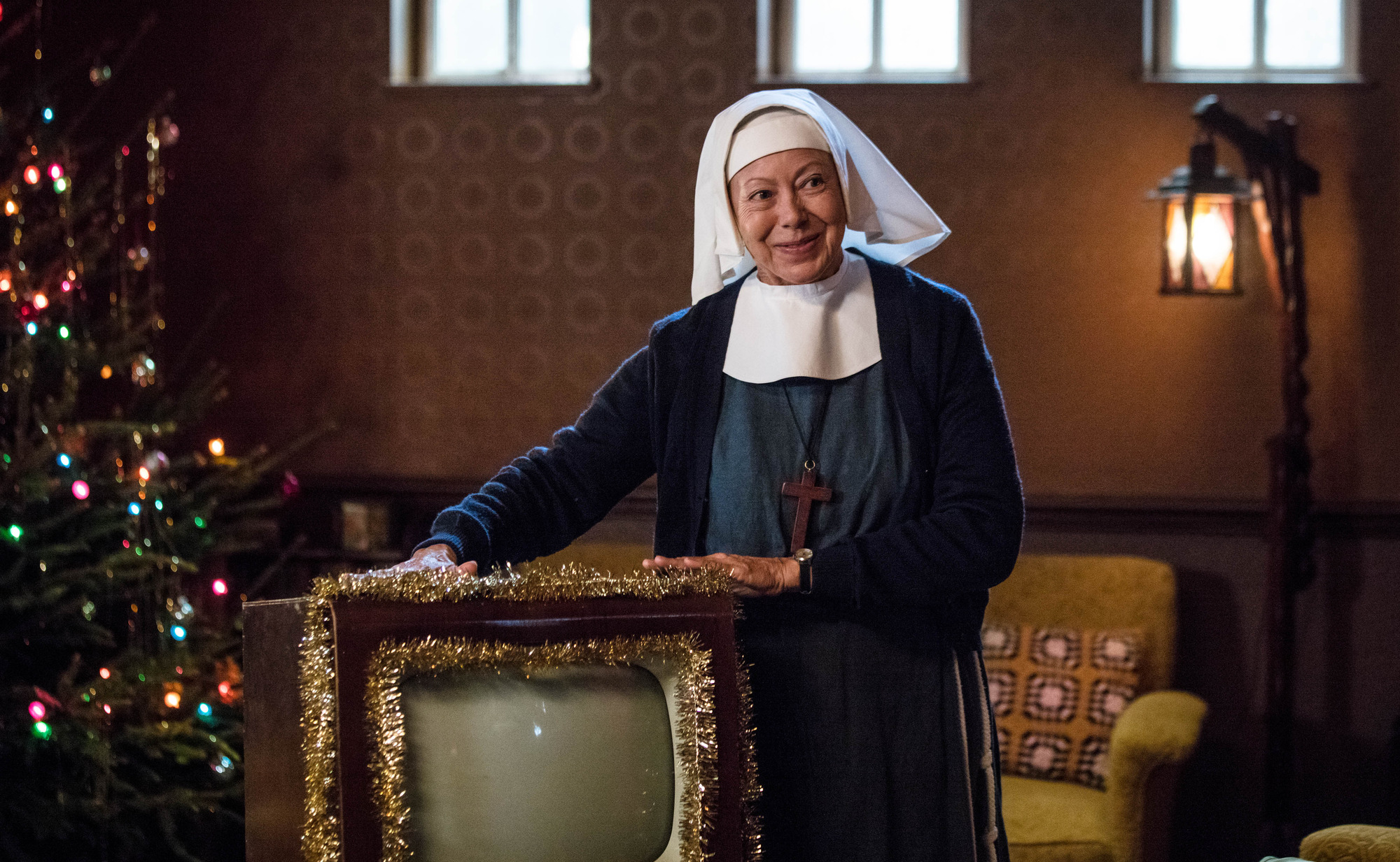 Sister Julienne (JENNY AGUTTER) in the Call the Midwife 2017 Christmas special (BBC Pictures, JG)