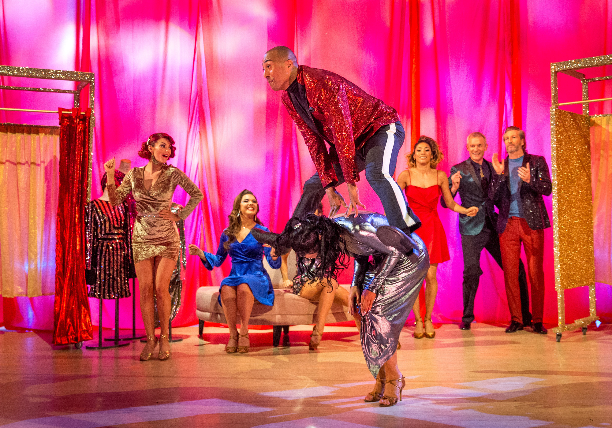 WARNING: Embargoed for publication until 00:00:01 on 09/12/2017 - Programme Name: Strictly Come Dancing Christmas Special 2017 - TX: n/a - Episode: Strictly Come Dancing Christmas Special 2017 (No. n/a) - Picture Shows: *STRICTLY NOT FOR PUBLICATION UNTIL 00:01HRS, SATURDAY 9TH DECEMBER, 2017* Celebrity and pro dancers - (C) BBC - Photographer: Guy Levy (BBC, TL)