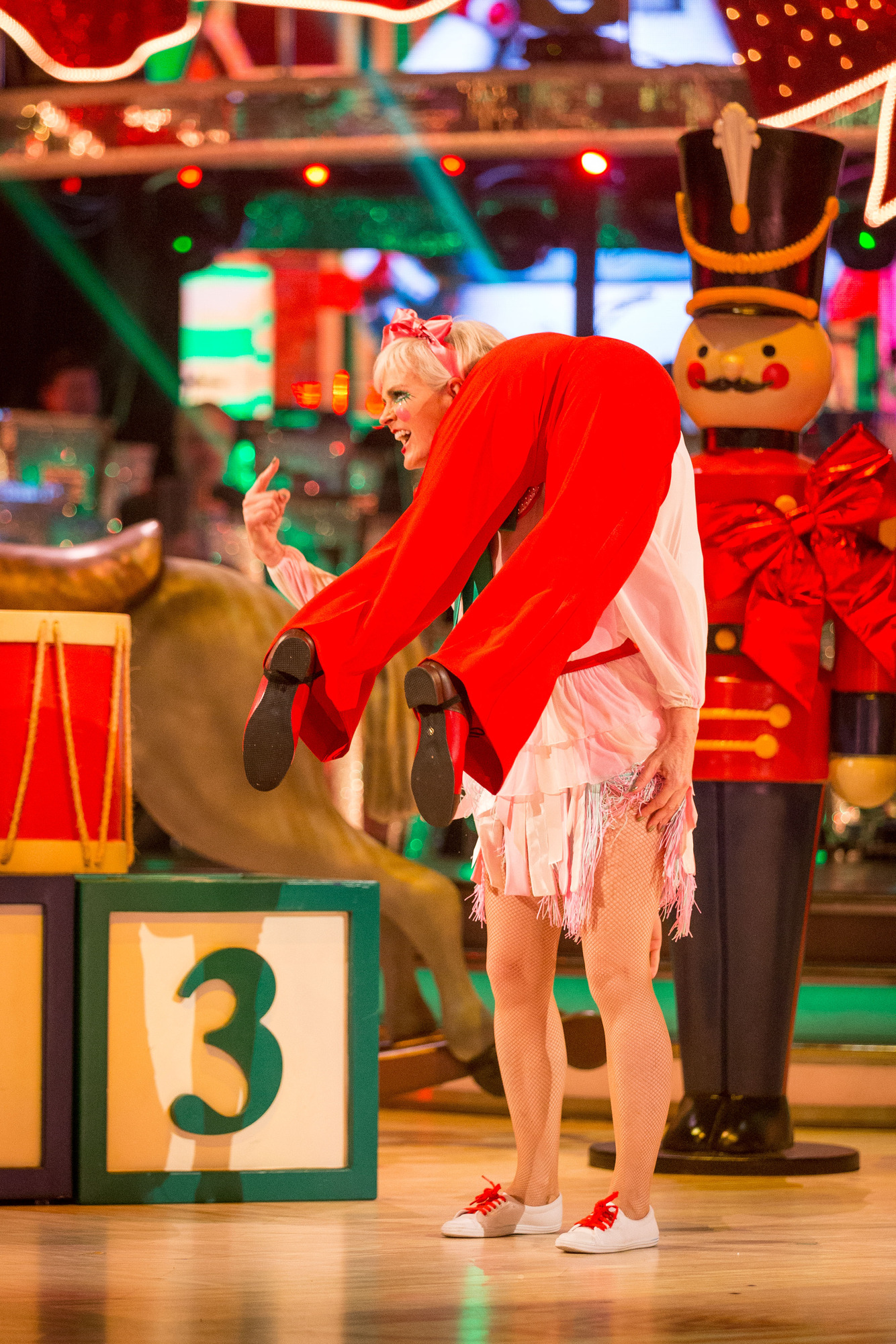 WARNING: Embargoed for publication until 00:00:01 on 09/12/2017 - Programme Name: Strictly Come Dancing Christmas Special 2017 - TX: n/a - Episode: Strictly Come Dancing Christmas Special 2017 (No. n/a) - Picture Shows: *STRICTLY NOT FOR PUBLICATION UNTIL 00:01HRS, SATURDAY 9TH DECEMBER, 2017* Judy Murray, Neil Jones - (C) BBC - Photographer: Guy Levy (BBC, TL)