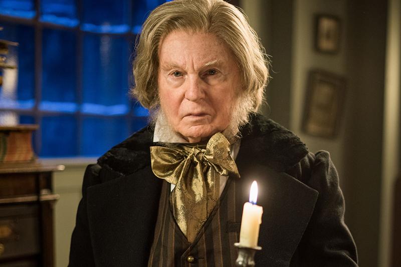 Sir Derek Jacobi in A Christmas Carol Goes Wrong (BBC, HF)