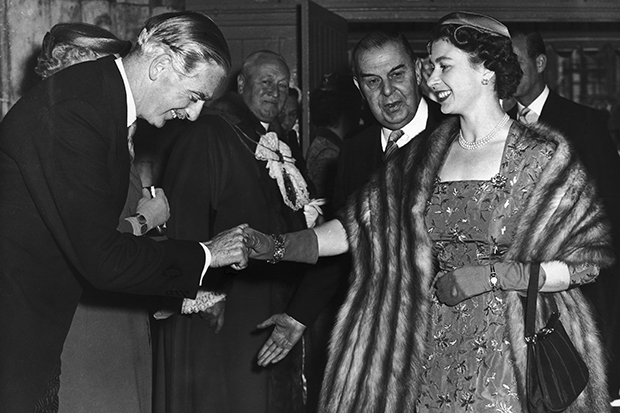 Anthony Eden and Queen Elizabeth before the Suez Crisis in 1956