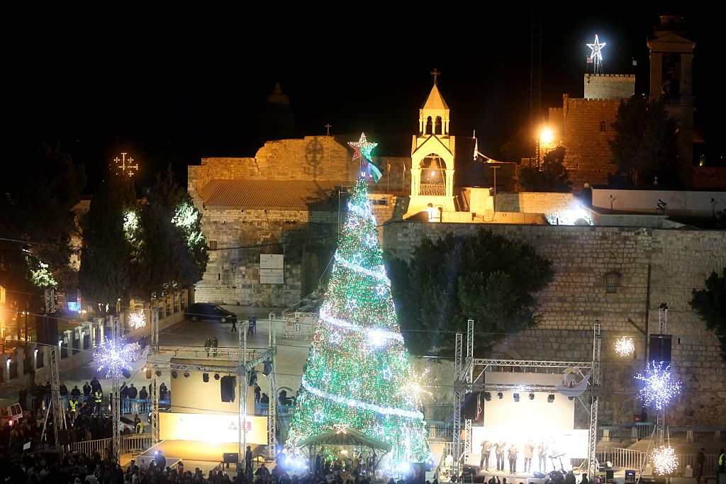 Christmas preparations Manger Square, Bethlehem