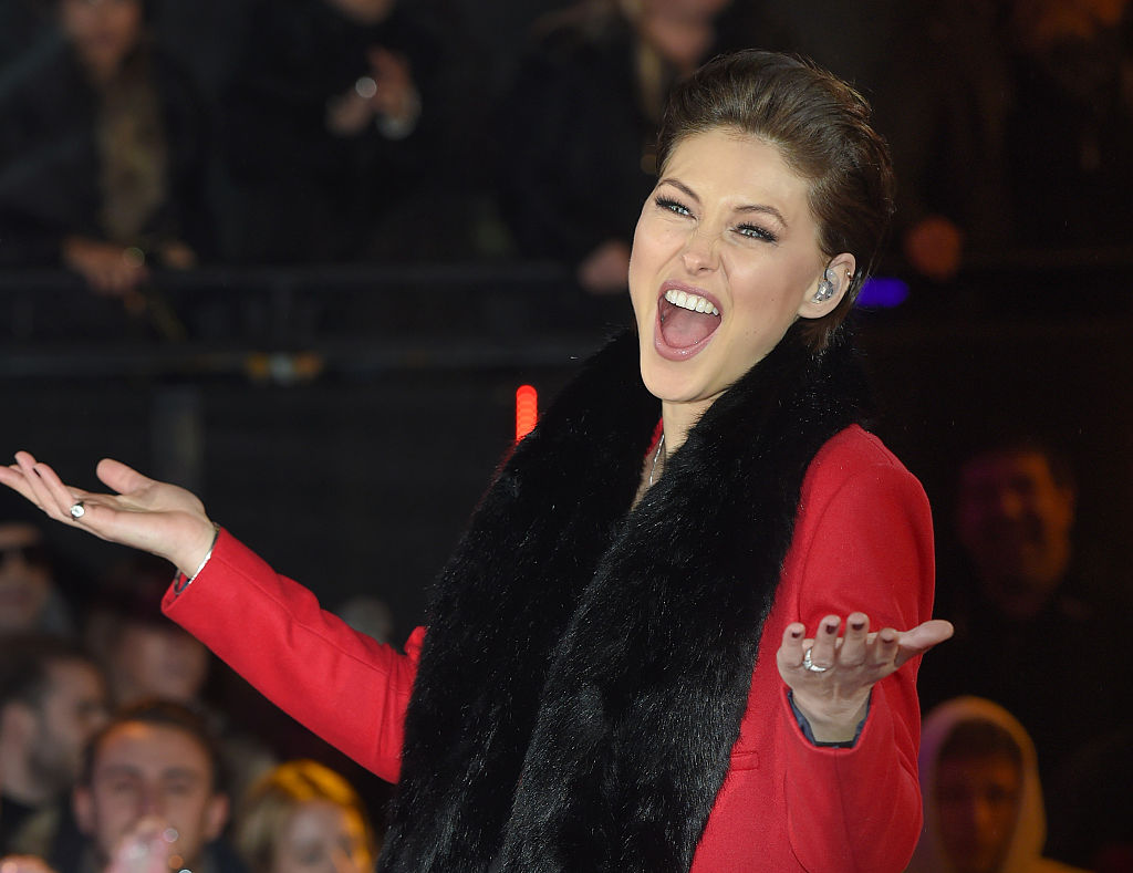 BOREHAMWOOD, ENGLAND - JANUARY 08:  Emma Willis presents from the Big Brother house at Elstree Studios on January 8, 2016 in Borehamwood, England.  (Photo by Karwai Tang/WireImage, BA)