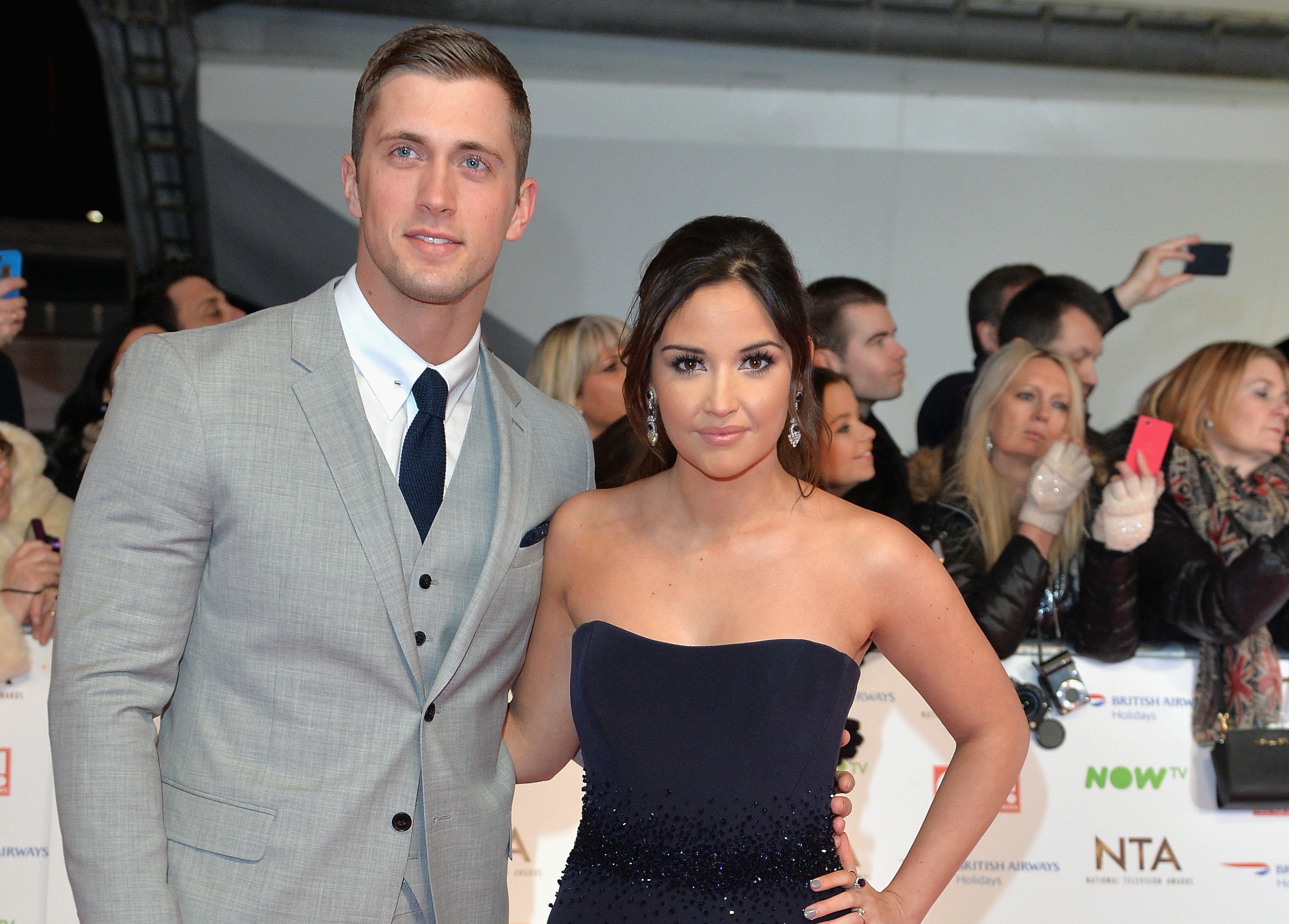 LONDON, ENGLAND - JANUARY 20:  Dan Osborne and Jacqueline Jossa attend the 21st National Television Awards at The O2 Arena on January 20, 2016 in London, England.  (Photo by Anthony Harvey/Getty Images)