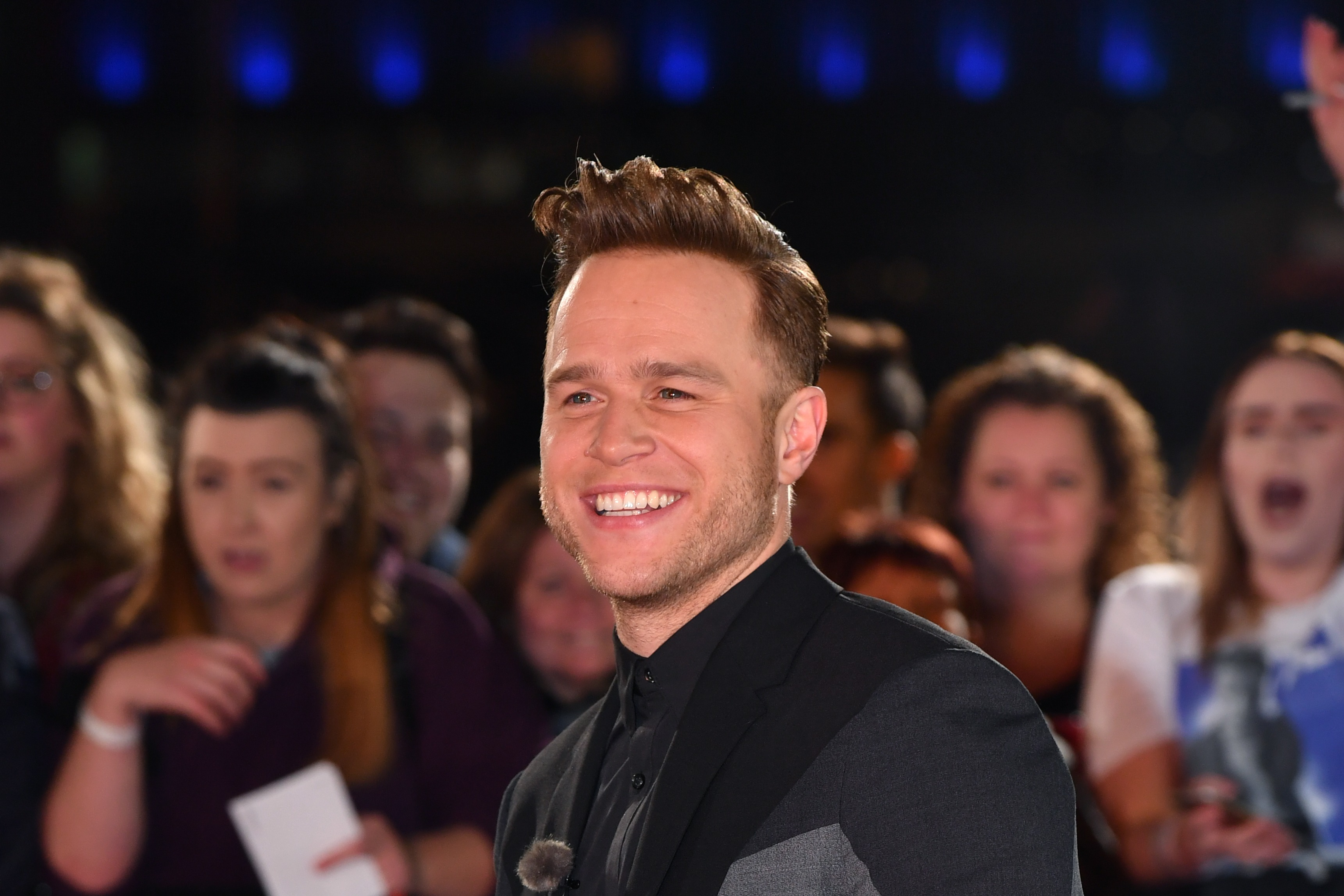 MANCHESTER, ENGLAND - OCTOBER 17:  Olly Murs arrives during The Voice UK 2018 launch photocall at Media City on October 17, 2017 in Manchester, England.  (Photo by Anthony Devlin/Getty Images)