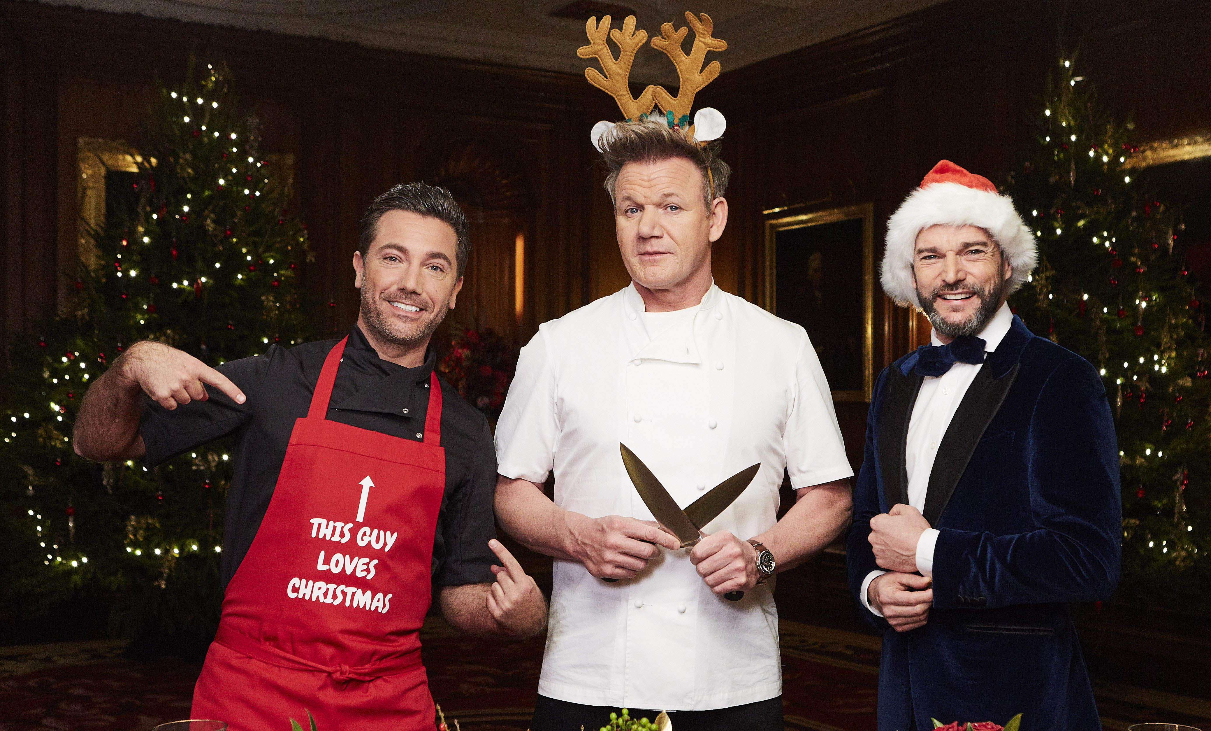 gordon gino and freds great christmas roast itv gordon ramsay and gino dacampo go head to head radio times - Fred Christmas