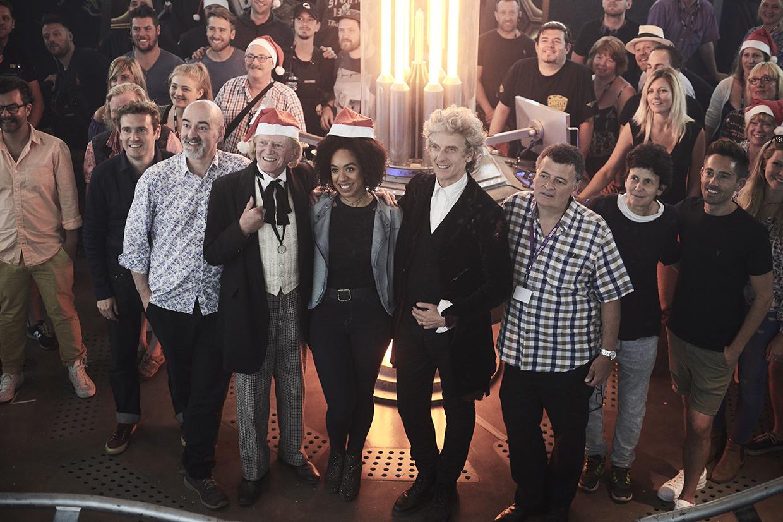 The Doctor Who team gather on set - Ray Burmiston