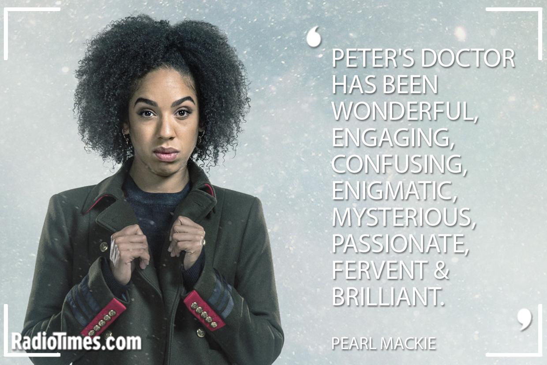 Peter Capaldi Tribute - Pearl Mackie