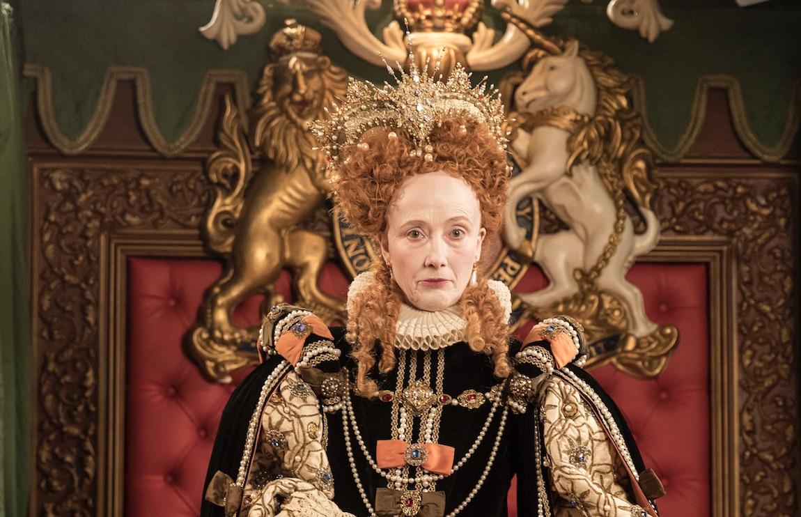 Emma Thompson as Elizabeth 1 in Upstart Crow, BBC publicity shot, BD