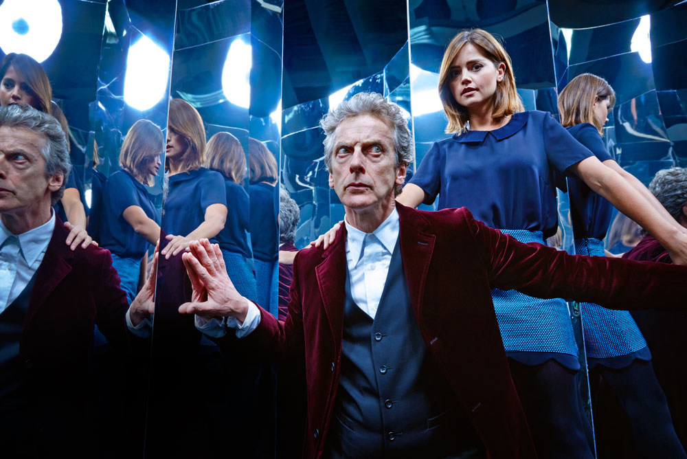Jenna Coleman and Peter Capaldi in an exclusive Radio Times shoot (RT, TL)