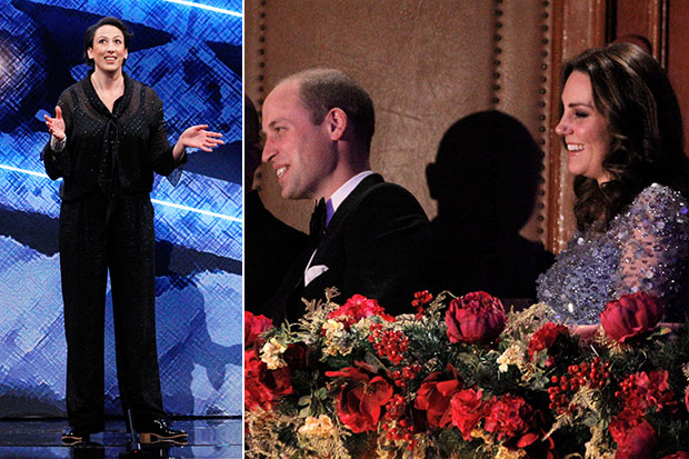 Prince William at Royal Variety Performance, ITV Pictures, SL
