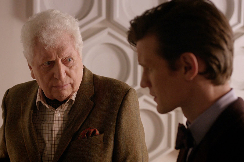 Tom Baker and Matt Smith in The Day of the Doctor (BBC, HF)