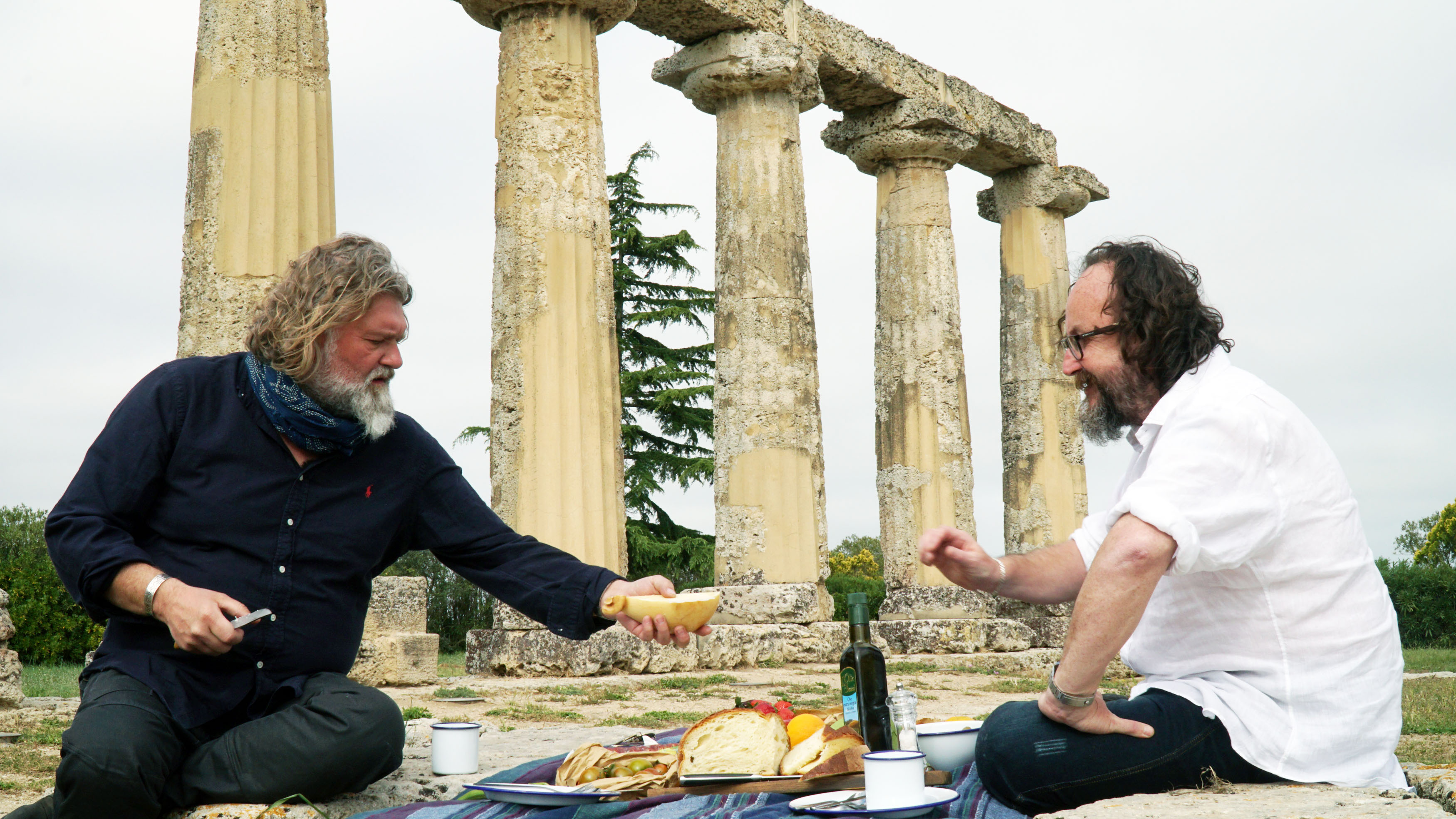 Picnicking at a historical site in Metaponto, Italy