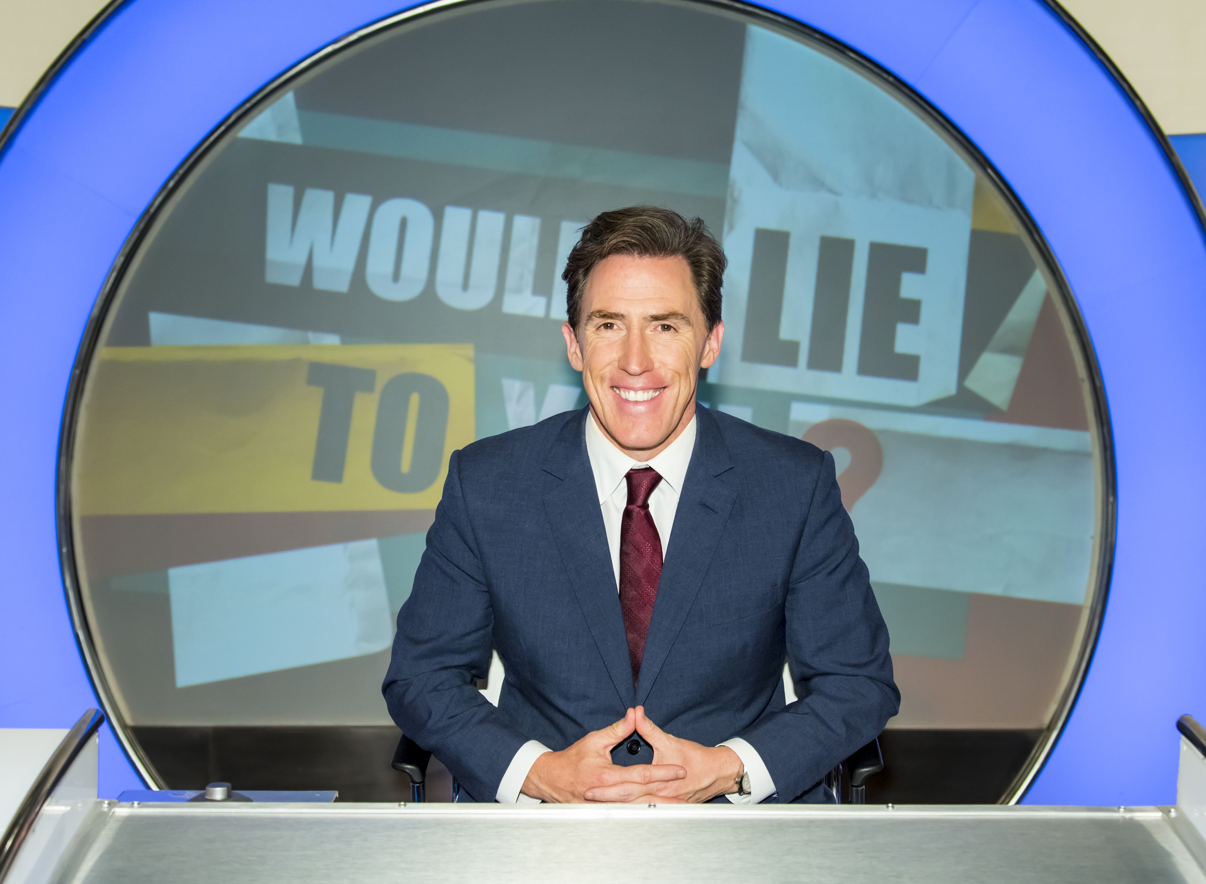 Programme Name: Would I Lie To You? - TX: n/a - Episode: n/a (No. Generics) - Picture Shows:  Rob Brydon - (C) Endemol Shine UK - Photographer: Brian Ritchie  BBC, TL