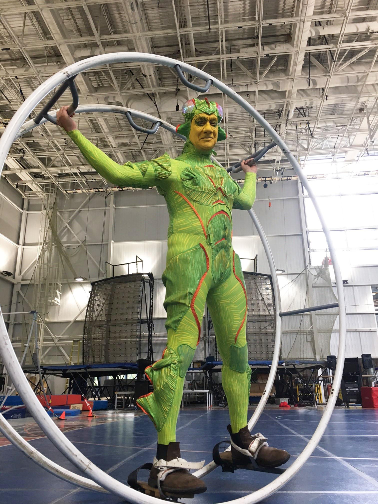 Portillo auditions for Cirque du Soleil