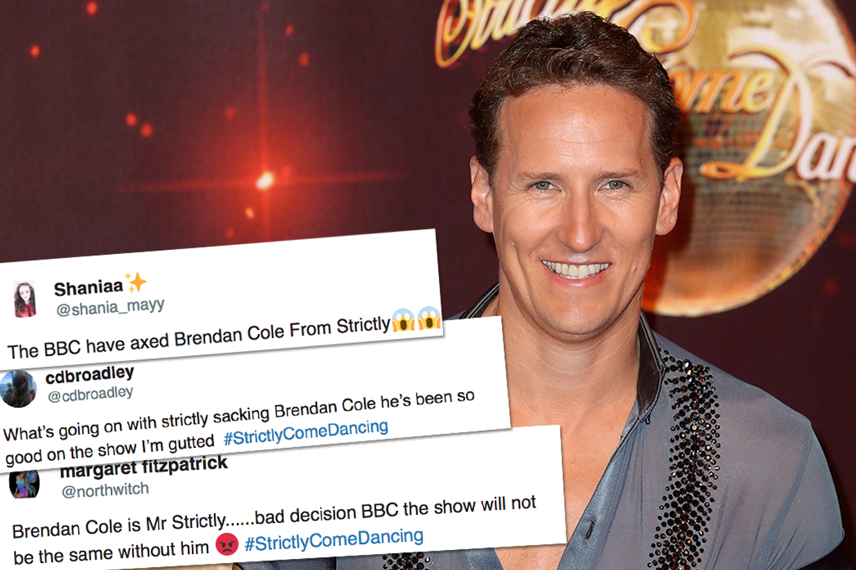 Brendan Cole axed from Strictly