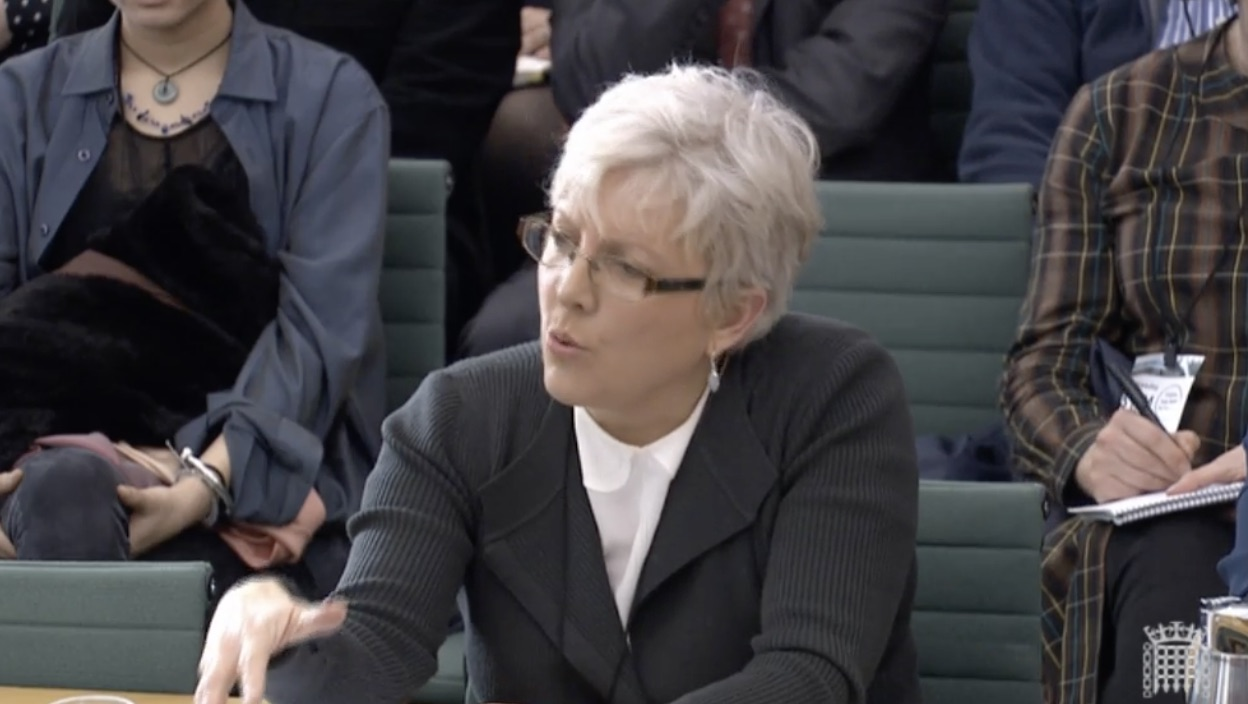 Carrie Gracie DCMS select committee screen grab, BD