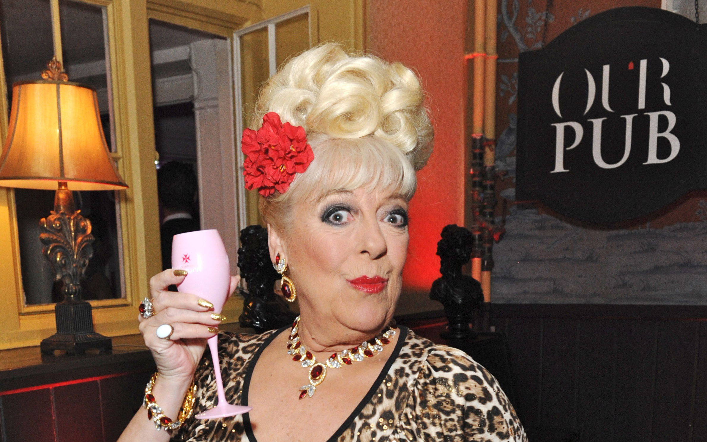 Julie Goodyear attends the launch of Virgin Media TiVo at The House of St Barnabas on March 30, 2011 in London, England. (Photo by JAB Promotions/WireImage)
