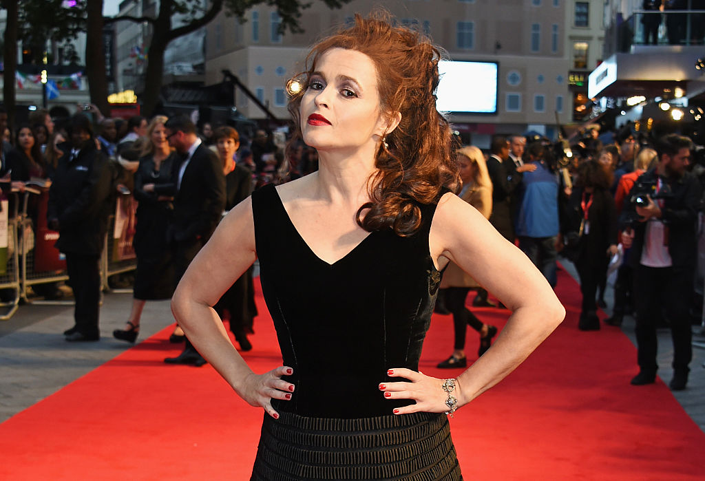 "LONDON, ENGLAND - OCTOBER 07:  Helena Bonham Carter attends a screening of ""Suffragette"" on the opening night of the BFI London Film Festival at Odeon Leicester Square on October 7, 2015 in London, England.  (Photo by David M. Benett/Dave Benett/WireImage)"