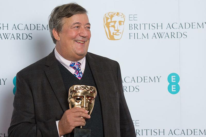 Stephen Fry attending the British Academy Film Award Nominations event (BAFTA, HF)