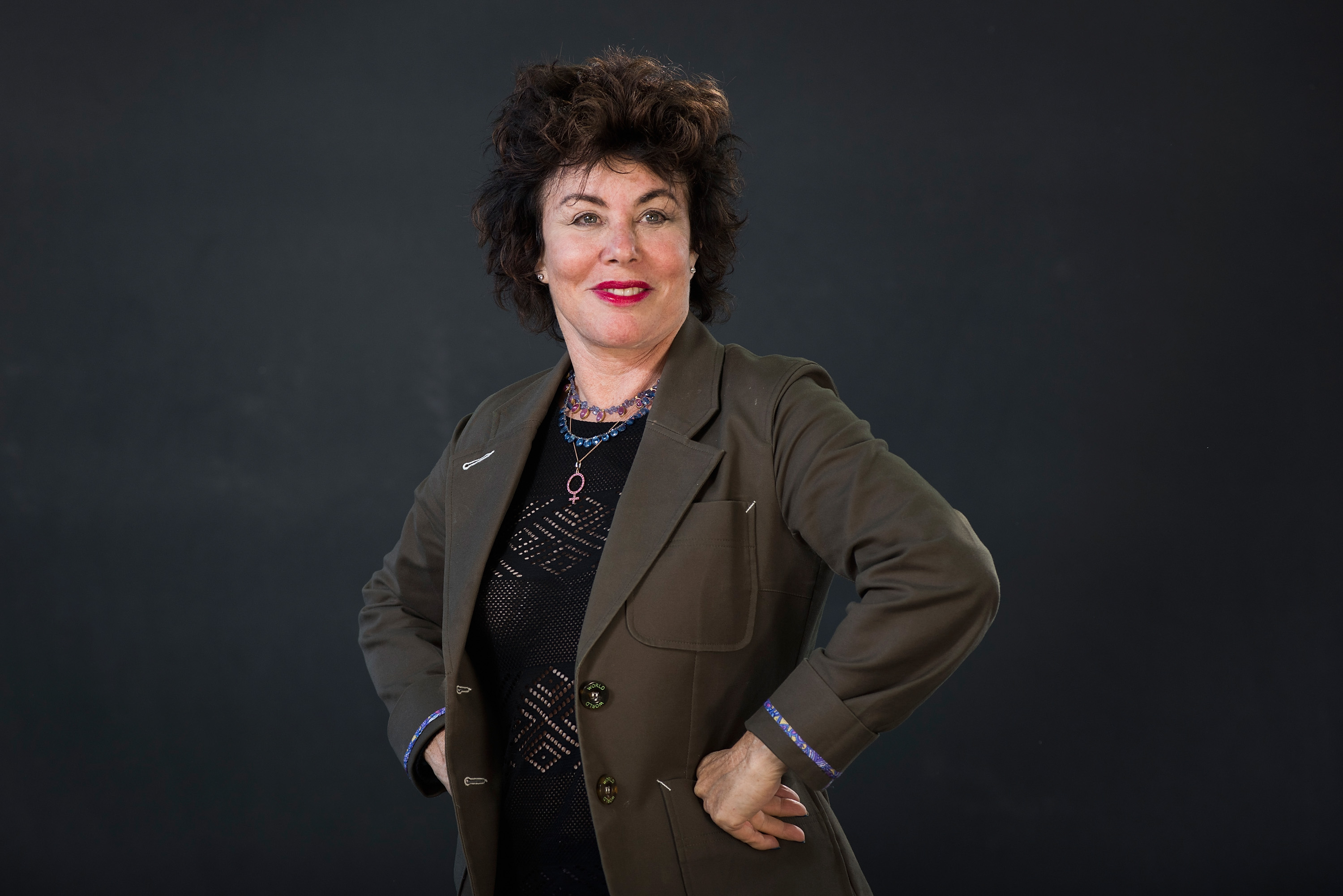 EDINBURGH, SCOTLAND - AUGUST 24: Ruby Wax attends the Edinburgh International Book Festival on August 24, 2016 in Edinburgh, Scotland. The Edinburgh International Book Festival is one of the most important annual literary events, and takes place in the city which became a UNESCO City of Literature in 2004.  (Photo by Awakening/Getty Images)  Getty, TL