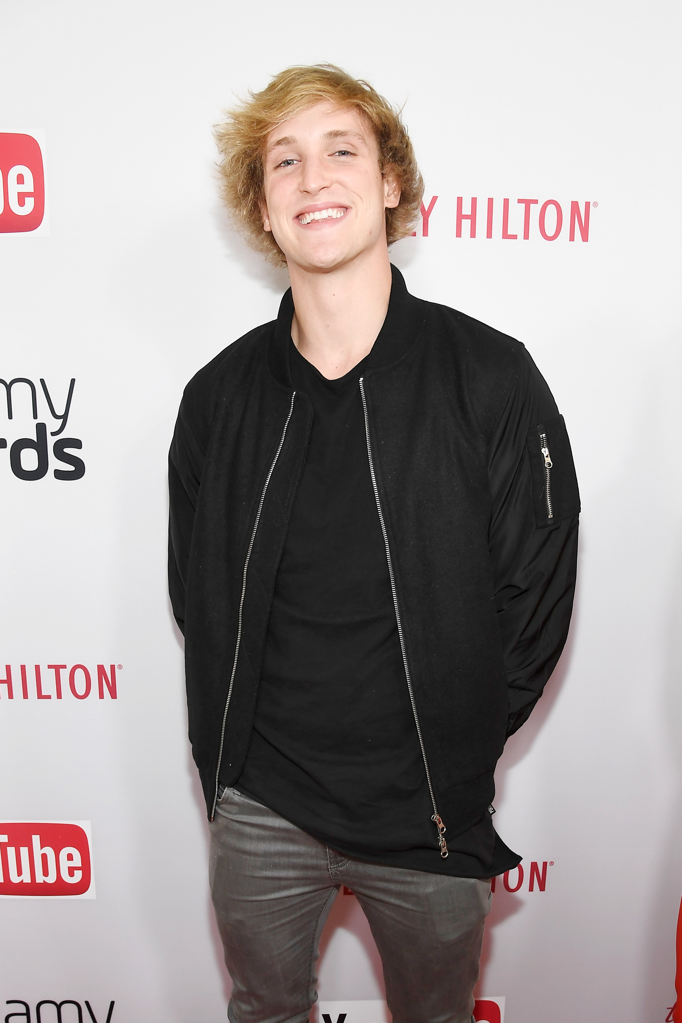 BEVERLY HILLS, CA - OCTOBER 04:  Internet personality Logan Paul attends the 6th annual Streamy Awards hosted by King Bach and live streamed on YouTube at The Beverly Hilton Hotel on October 4, 2016 in Beverly Hills, California.  (Photo by Frazer Harrison/Getty Images for dick clark productions)  Getty, TL