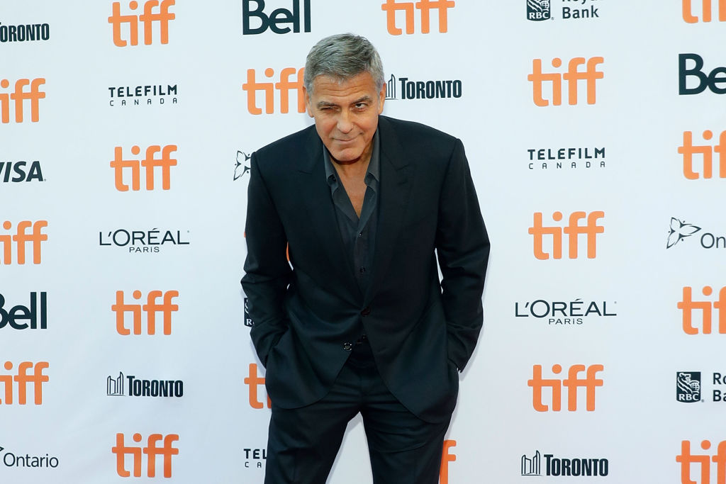 "TORONTO, ON - SEPTEMBER 09: George Clooney attends the premiere of ""Suburbicon"" during the 2017 Toronto International Film Festival at Princess of Wales Theatre on September 9, 2017 in Toronto, Canada. (Photo by Taylor Hill/FilmMagic, BA)"