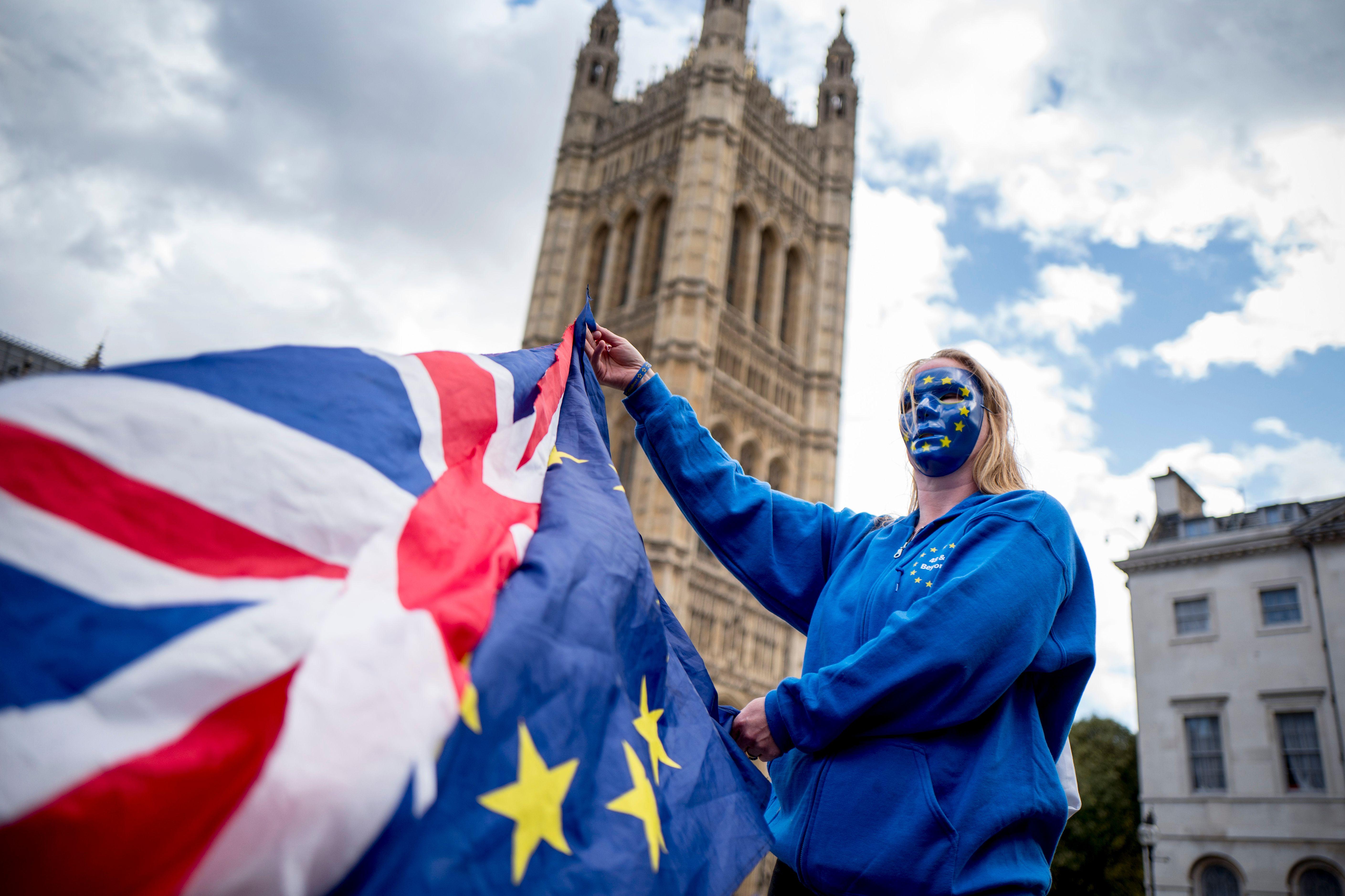 A Pro-European Union protester (Getty, EH)