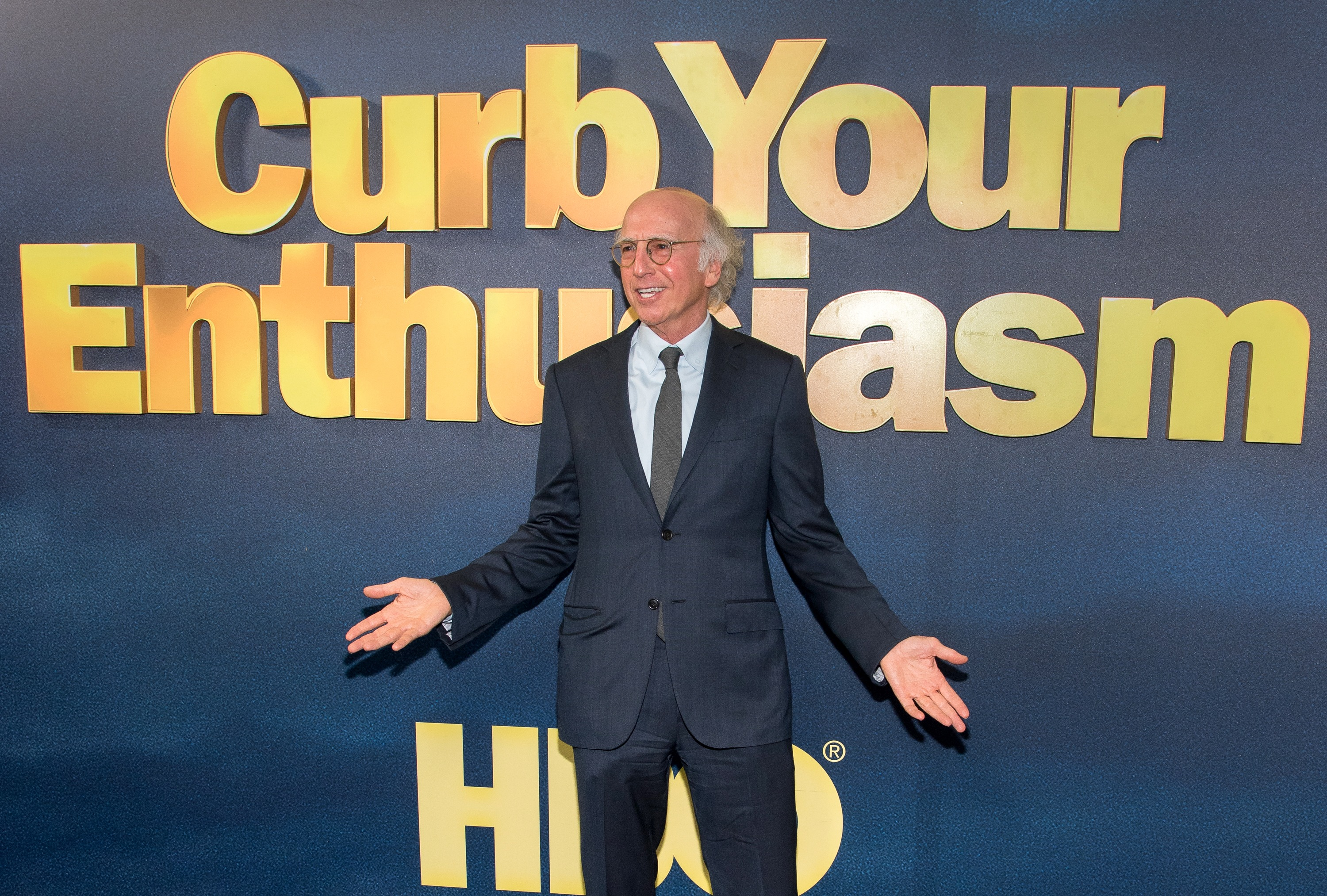 """NEW YORK, NY - SEPTEMBER 27:  Larry David attends the """"Curb Your Enthusiasm"""" season 9 premiere at SVA Theater on September 27, 2017 in New York City.  (Photo by Mike Pont/FilmMagic)"""