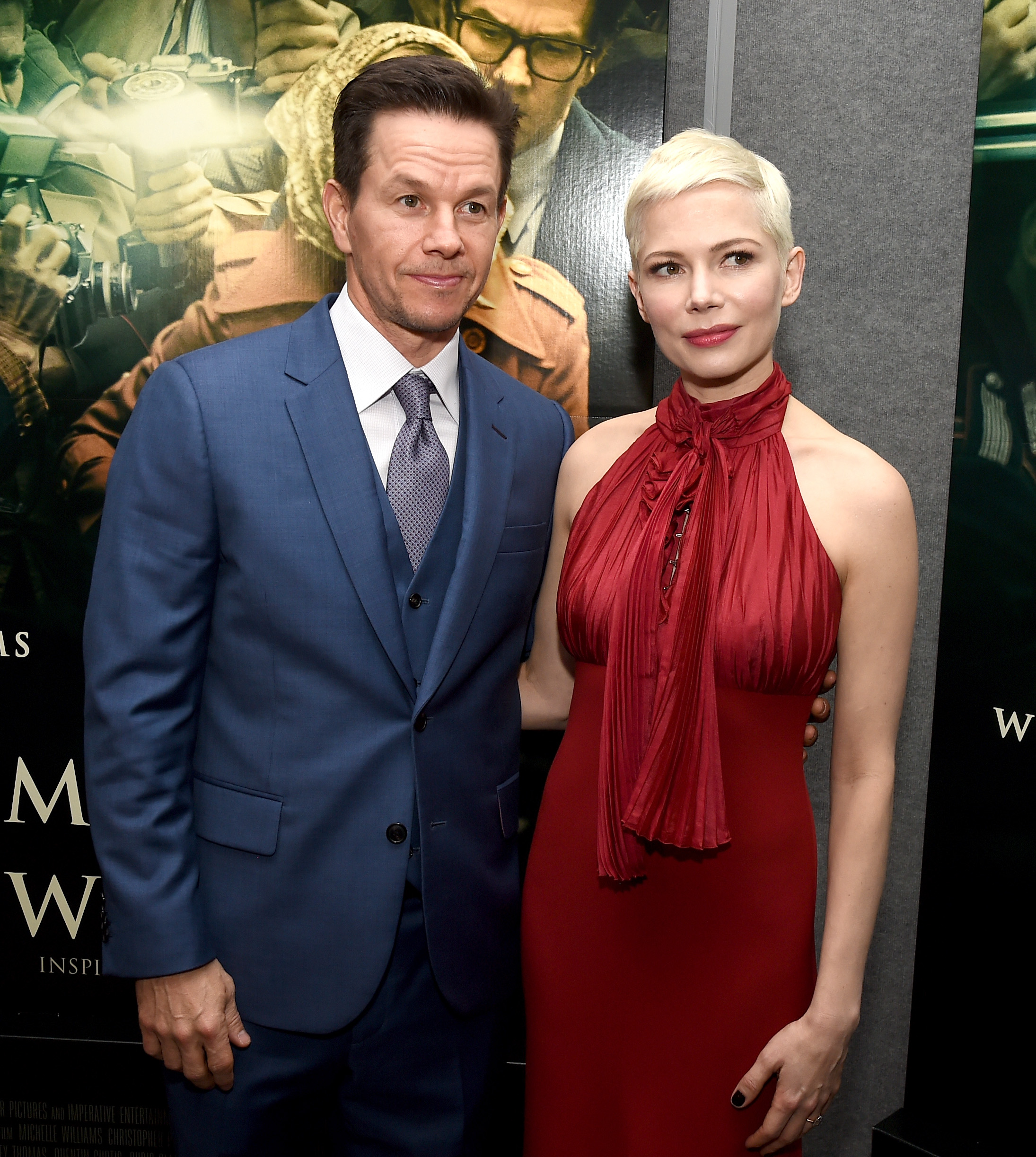 "BEVERLY HILLS, CA - DECEMBER 18:  Mark Wahlberg (L) and Michelle Williams attend the premiere of Sony Pictures Entertainment's ""All The Money In The World"" at Samuel Goldwyn Theater on December 18, 2017 in Beverly Hills, California.  (Photo by Kevin Winter/Getty Images)  Getty, TL"