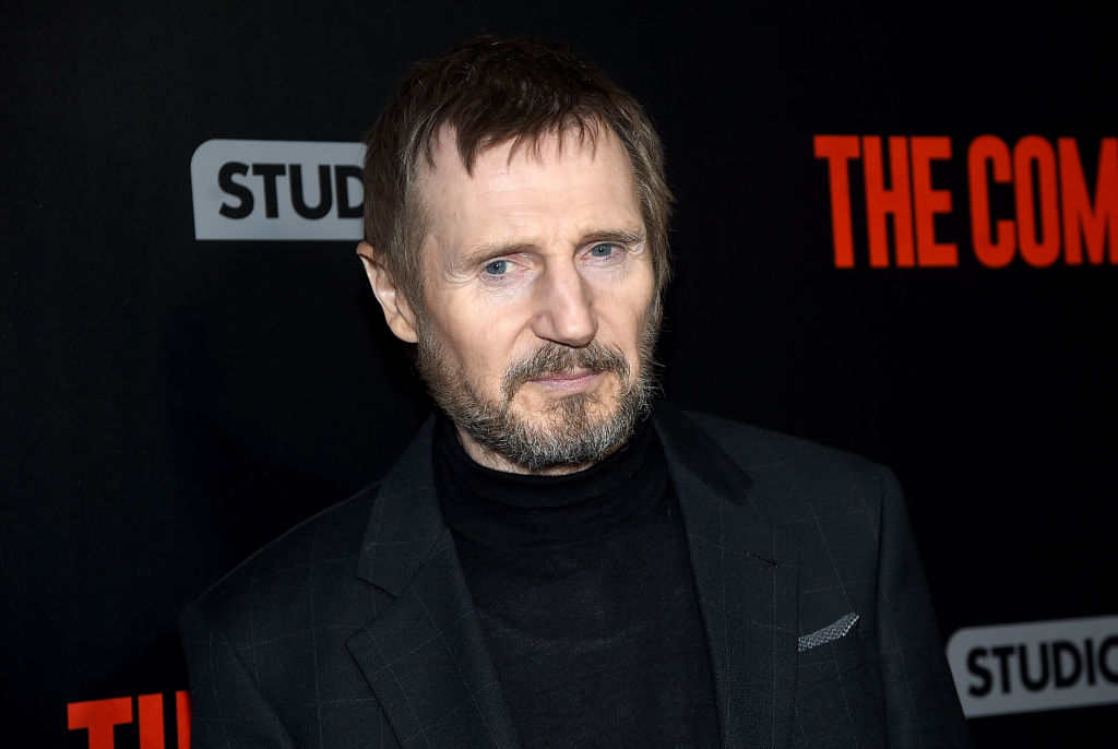 """NEW YORK, NY - JANUARY 08:  Liam Neeson attends the """"The Commuter"""" New York Premiere at AMC Loews Lincoln Square on January 8, 2018 in New York City.  (Photo by Jamie McCarthy/Getty Images, BA)"""
