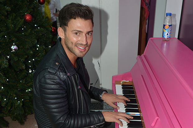 Jake Quickenden playing the piano