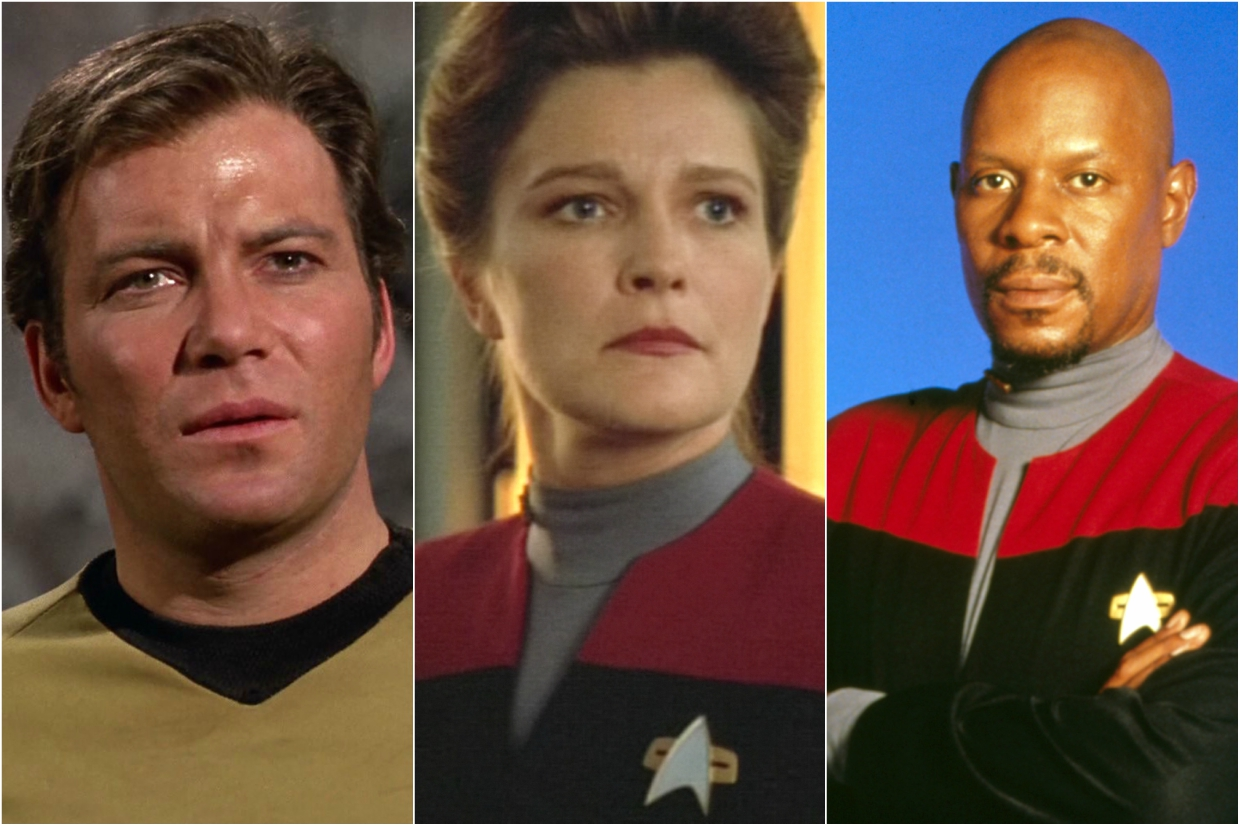 Star Trek Captains Kirk, Janeway and Sisko