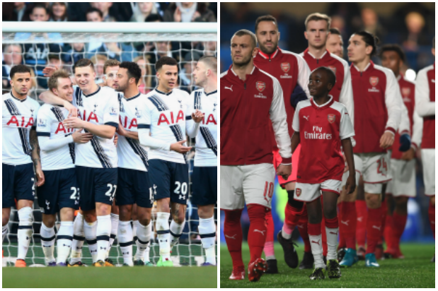 Spurs, Arsenal (Getty, MH)
