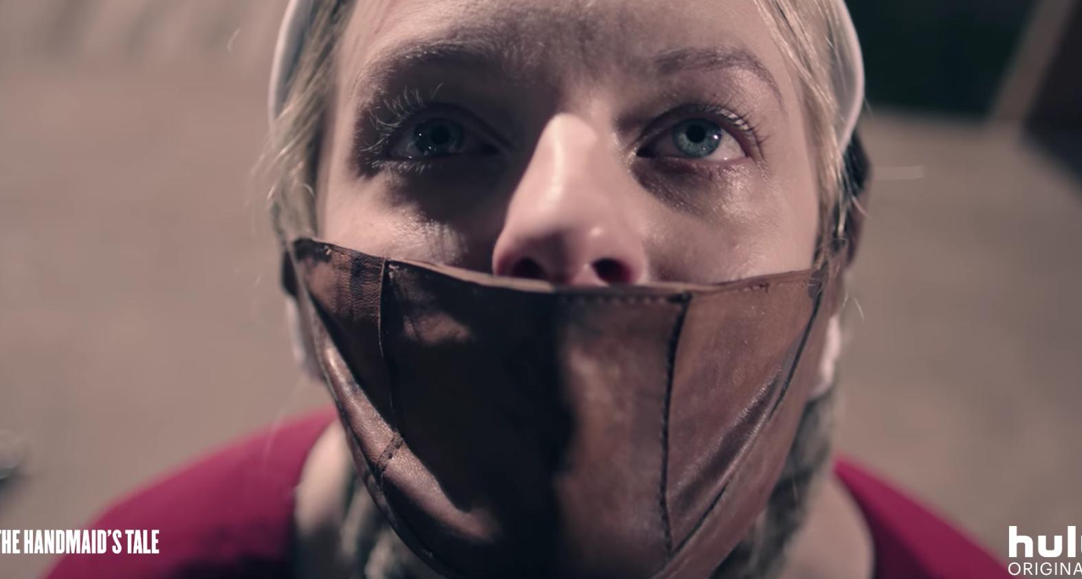 Elisabeth Moss, The Handmaid's Tale (Hulu trailer screenshot, EH)