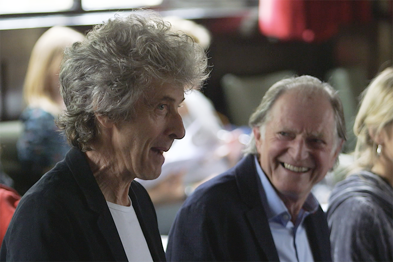 Peter Capaldi and David Bradley at the Doctor Who: Twice Upon a Time readthrough