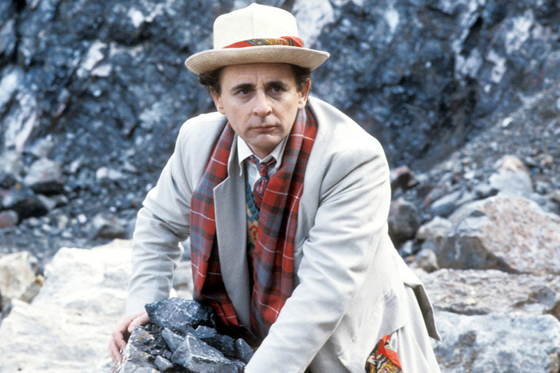 Sylvester McCoy as the Seventh Doctor (BBC, HF)