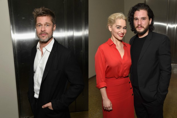 Brad Pitt Emilia Clarke and Kit Harington