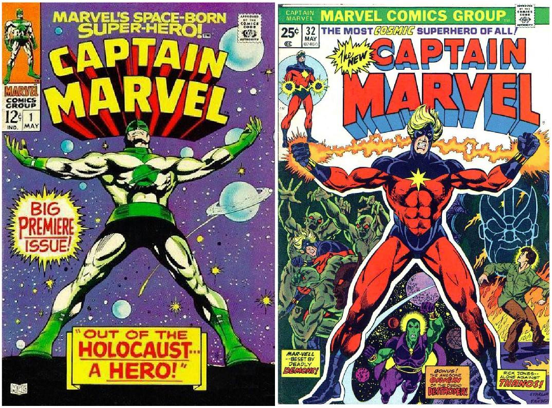 Some older Captain Marvel comics (Marvel Comics, HF)